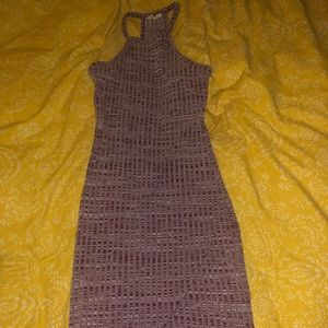 Urban Outfitters Ribbed Burgundy Dress